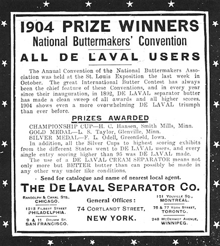 DeLaval Butter Advertisement
